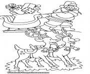 pere noel 186 dessin à colorier