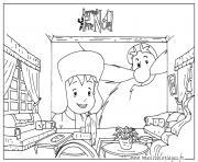 L apprenti Pere Noel dessin à colorier