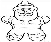 biscuit de noel dessin à colorier