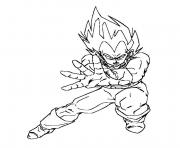 Coloriage vegeta force dragon ball z 127
