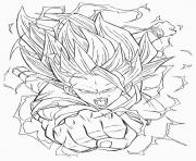 Coloriage dragon ball z gogeta dessin