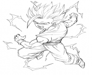 Coloriage dragon ball z 99