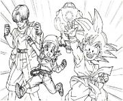 Coloriage dragon ball z 145