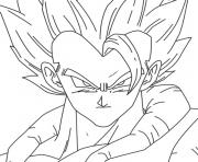 Coloriage unique dragon ball z vegeta dessin