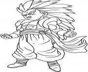 Coloriage dragon ball z 185