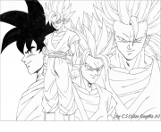 Coloriage dragon ball z 95