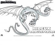 Coloriage dragons le film dragon hideux