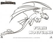 Coloriage dragons le film furie nocturne