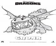 Coloriage dragons le film gronckle
