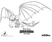 dragons le film train dragon hiccup fury2 dessin à colorier