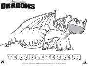 Coloriage dragons le film terrible terror