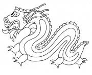 dragon chinois simple facile dessin à colorier