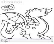 dragon maternelle enfant dessin à colorier