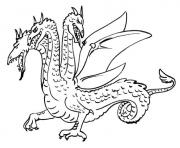 Coloriage dragon de profil dessin
