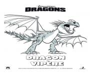 Coloriage dragon vipere film 2