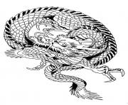 Coloriage dragon chinois 5