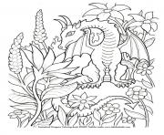 Coloriage dragon 234