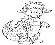 Coloriage dragon enfants facile