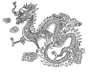 dragon chinois chine dessin à colorier