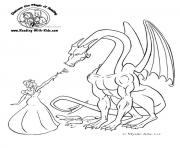 Coloriage dragon 195