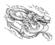 Coloriage dragon chinois 3