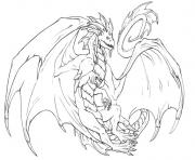 Coloriage dragon 220