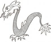 Coloriage dragon chinois simple