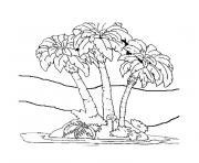 palmier 7 dessin à colorier