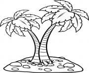 palmier facile dessin à colorier