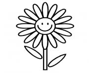fleur simple dessin à colorier