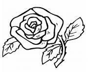 Coloriage fleur rose simple et facile