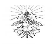 fleur tropicale dessin à colorier