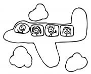Coloriage avion 4