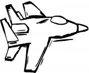 avion de chasse 20 dessin à colorier