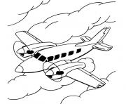 Coloriage avion 32