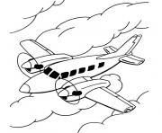 avion de ligne dessin à colorier