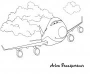 Coloriage avion 81