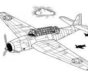 Coloriage avion 33
