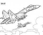 Coloriage avion de guerre 12