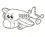 Coloriage avion 14