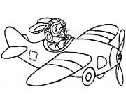 Coloriage avion 17