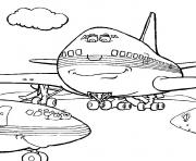Coloriage avion 115