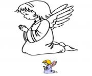 Coloriage ange de noel 3 dessin