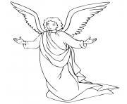 Coloriage ange de noel 27 dessin