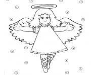 Coloriage ange de noel 32 dessin