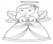 Coloriage ange de noel 23 dessin