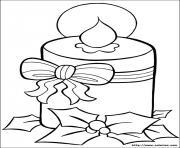 bougie de noel 8 dessin à colorier