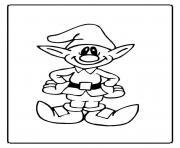 lutin de noel 30 dessin à colorier
