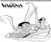 Coloriage vaiana moana Disney Fan Art dessin