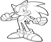 Coloriage sonic 46